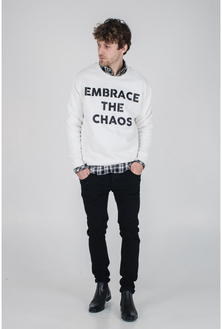 OVERSIZED ΦΟΥΤΕΡ ΜΕ ΣΤΑΜΠΑ EMBRACE THE CHAOS